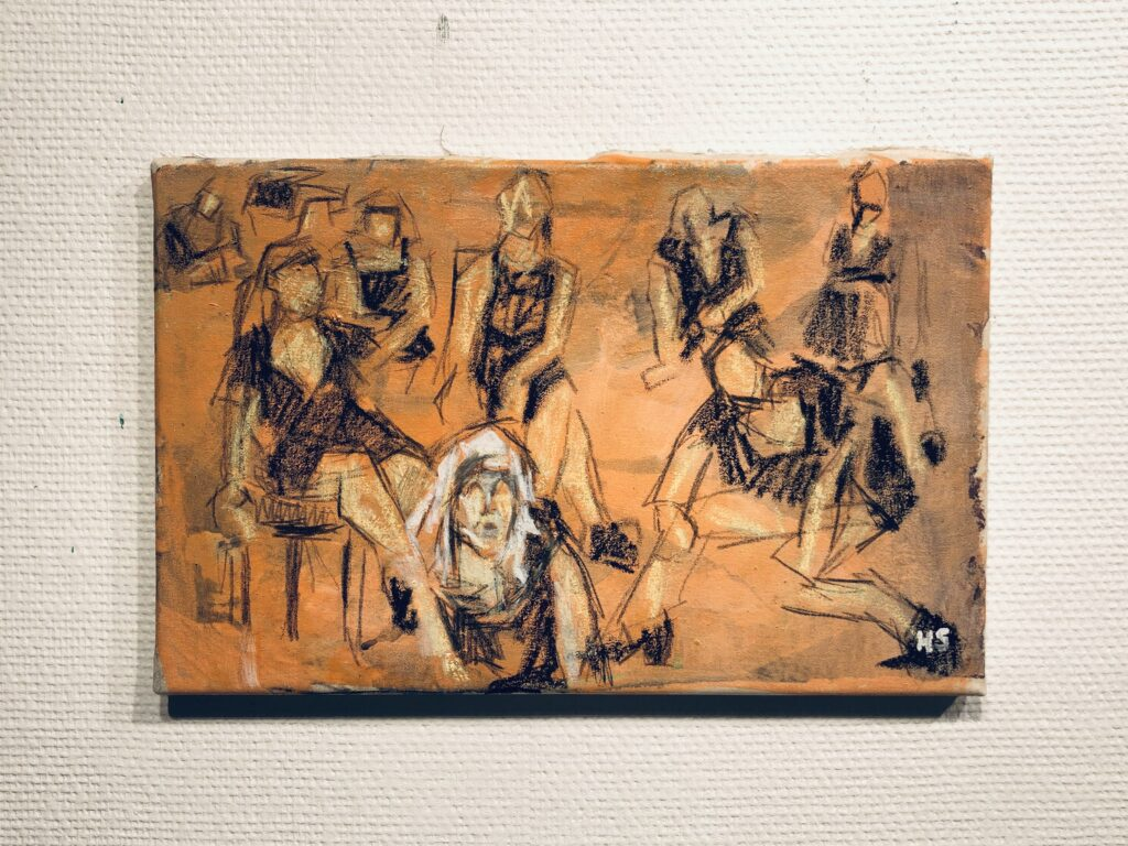 Performance in front of Domhuset 2016 29x45 cm